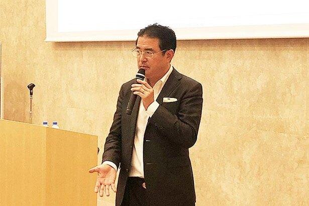 登壇した立教大学ビジネススクール教授の田中道昭氏