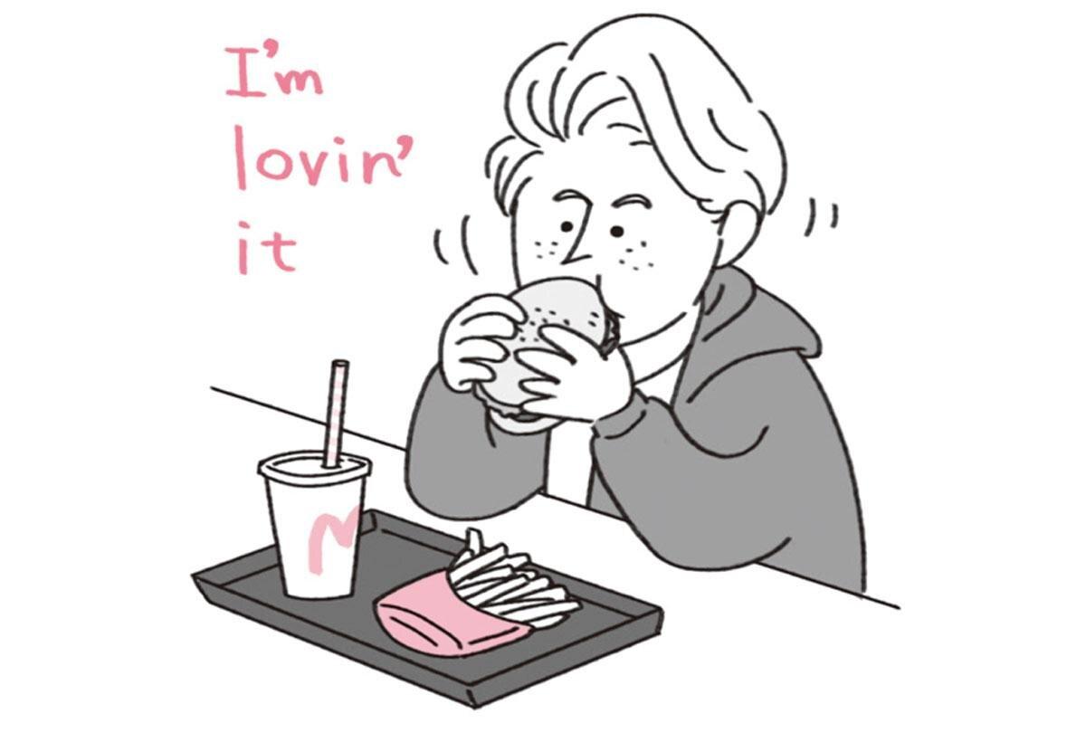 今この瞬間を強調!「I'm lovin' it!」が進行形なワケ/忘れない中学英語(4)