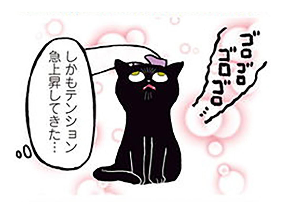 恍惚の表情がヤバイ! 白目をむいてご機嫌なねこ/黒猫ろんと暮らしたら(4)