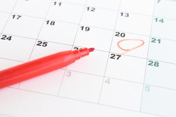 「日付のon」は、カレンダーを思い浮かべる。